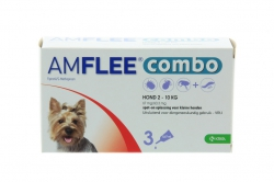 AMFLEE COMBO HOND SMALL 3X67MG. 2-10KG.
