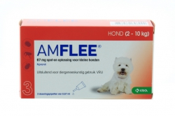 AMFLEE  HOND SMALL 3X67MG. 2-10KG.